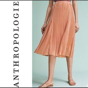 Anthropologie Maeve Metallic Rose Skirt NWT